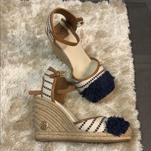 AUTHENTIC TORY BURCH Espadrille wedges